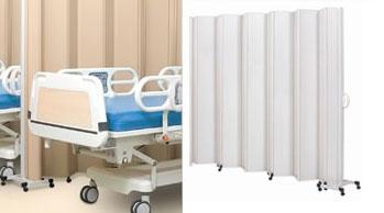 Divisórias móveis e biombos para ambiente hospitalar