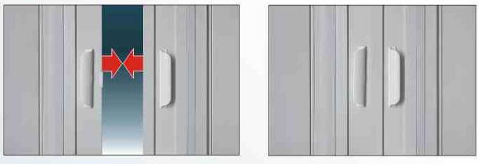 Divisórias Móveis com fechamento central
