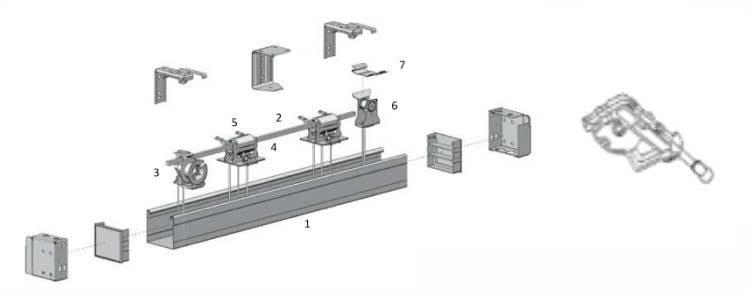 Persiana horizontal acionamento standard haste e corda