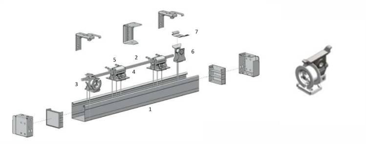 Persiana horizontal acionamento standard corda e corda